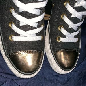 Converse Shoes - Converse All⭐️Star High Tops Black w/Gold